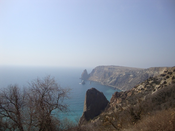 Вид на море: Фиолент, Севастополь, Крым.