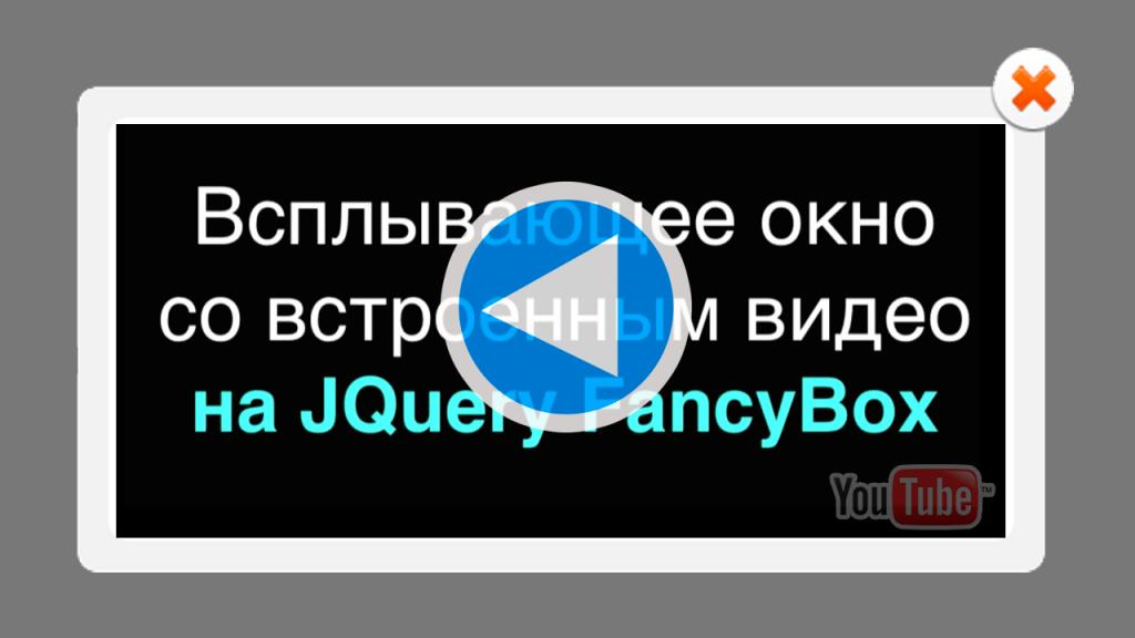 Всплывающее окно FancyBox работающее на JQuery FancyBox для сайта на HTML
