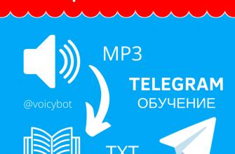 Переводим голосовые сообщения в текстовые с помощью Телеграм.