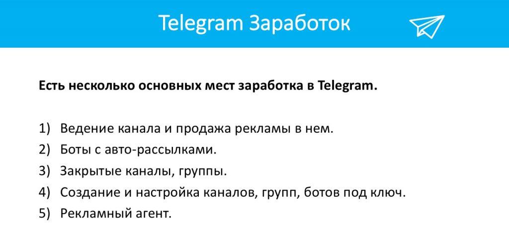 Проверенные способы заработка в Telegram