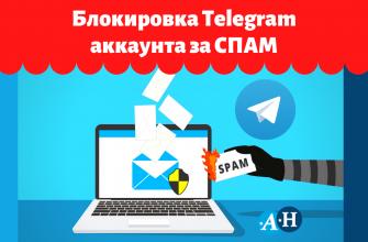 Блокировка Telegram за СПАМ